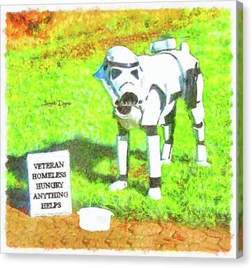 Veteran Dogtrooper Canvas Print by Leonardo Digenio