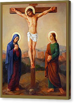 Via Dolorosa - Crucifixion - 12 Canvas Print by Svitozar Nenyuk
