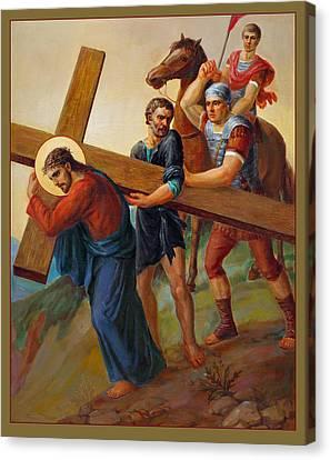 Via Dolorosa - Way Of The Cross - 5 Canvas Print by Svitozar Nenyuk