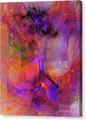 Vibrant Echoes Canvas Print by John Robert Beck