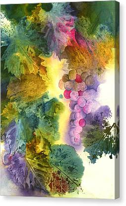 Vibrant Grapes Canvas Print by Gladys Folkers