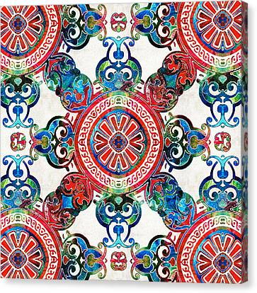 Vibrant Pattern Art - Color Fusion Design 4 By Sharon Cummings Canvas Print by Sharon Cummings