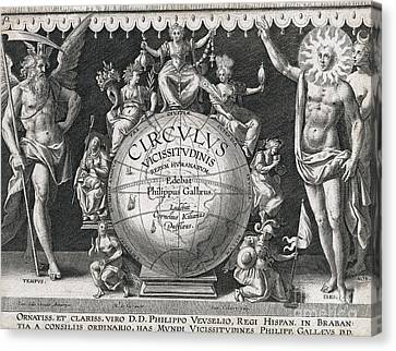 Vicissitude Of Human Things, 17th Canvas Print by Folger Shakespeare Library