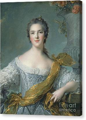 Victoire De France At Fontevrault Canvas Print by Jean Marc Nattier