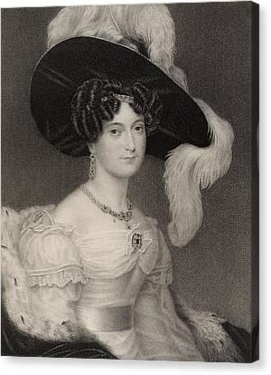 Victoria Maria Louisa Duchess Of Kent Canvas Print by Vintage Design Pics