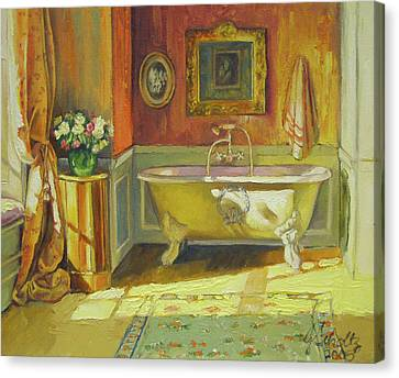 Victorian Bath Canvas Print by Jonel Scholtz