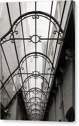 Victorian Glass Roof Canvas Print by Wim Lanclus