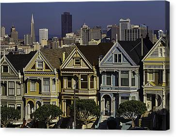 Victorian Painted Ladies Canvas Print by Garry Gay