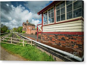 Victorian Railway Station Canvas Print by Adrian Evans