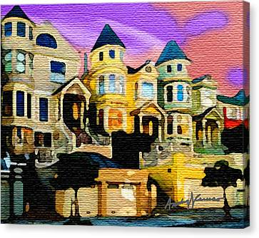 Victorian Row Canvas Print by Anthony Caruso