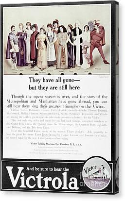 Victrola Advertisement Canvas Print by Granger