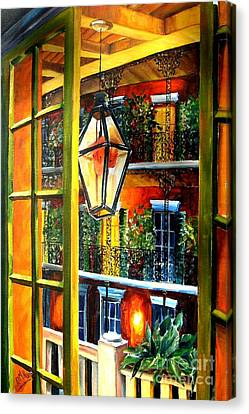 View From A French Quarter Balcony Canvas Print by Diane Millsap