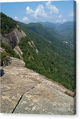 View From Exclamation Point At Chimney Rock Nc Canvas Print by Anna Lisa Yoder