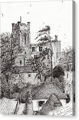 View From St Catherines School Ventnor Canvas Print by Vincent Alexander Booth
