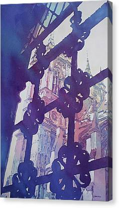 View From The Cloister Canvas Print by Jenny Armitage