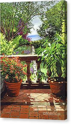 View From The Royal Garden Canvas Print by David Lloyd Glover