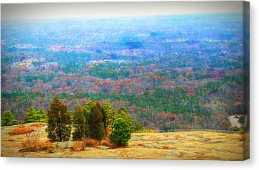 View From The Top Of Stone Mountain Canvas Print by Dan Sproul