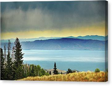 View Of Bear Lake Canvas Print by Utah-based Photographer Ryan Houston