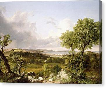 View Of Boston Canvas Print by Thomas Cole
