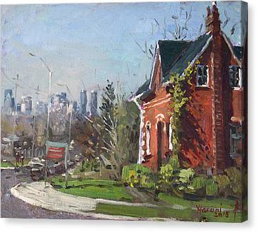 View Of Mississauga City Canvas Print by Ylli Haruni