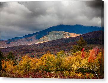 View Of Mount Chocorua In Fall Foliage Canvas Print by Jeff Folger