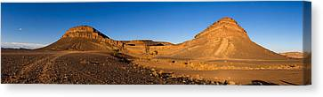 View Of Sand Dunes, Sahara Desert Canvas Print by Panoramic Images