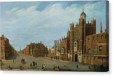 View Of St. James's Palace And Pall Mal Canvas Print by William James
