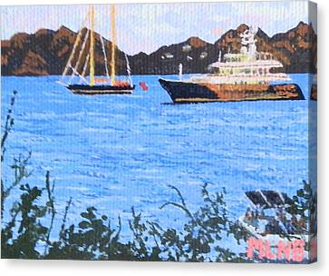 View Of St. Martin From Anguilla Canvas Print by Margaret Brooks