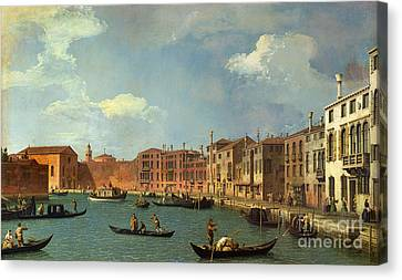 View Of The Canal Of Santa Chiara Canvas Print by Canaletto
