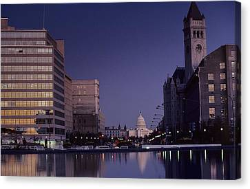 View Of The Capitol Building Canvas Print by Kenneth Garrett
