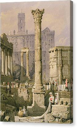 View Of The Forum, Rome  Canvas Print by Samuel Prout
