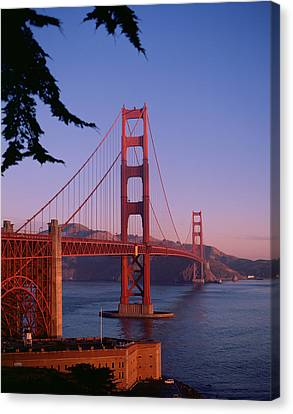 View Of The Golden Gate Bridge Canvas Print by American School