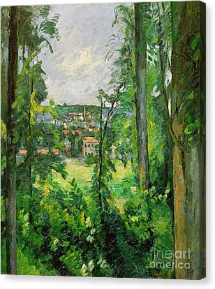 View Of The Outskirts Canvas Print by Paul Cezanne