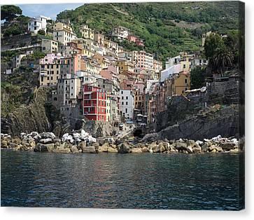 View Of The Riomaggiore, La Spezia Canvas Print by Panoramic Images