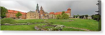 View Of The Wawel Castle With The Wawel Canvas Print by Panoramic Images