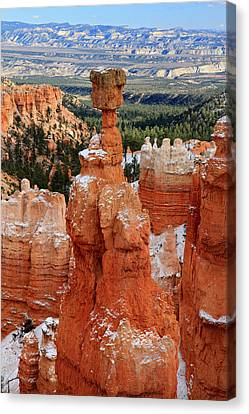 View Of Thor's Hammer In Bryce Canyon Canvas Print by Pierre Leclerc Photography