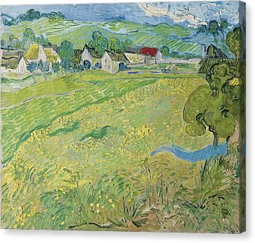 View Of Vessenots Near Auvers Canvas Print by Vincent van Gogh