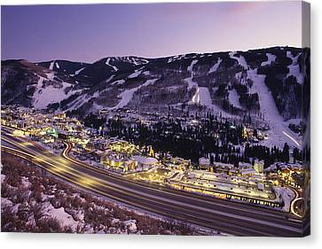 View Over I-70, Vail, Colorado Canvas Print by Michael S. Lewis