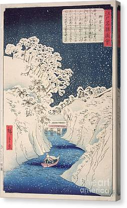 Views Of Edo Canvas Print by Hiroshige