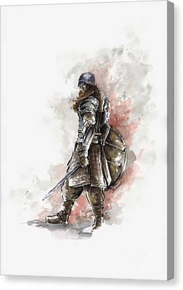 Vikings Warriors Canvas Print by Mariusz Szmerdt