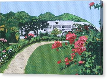 Villa In French St. Martin Canvas Print by Margaret Brooks