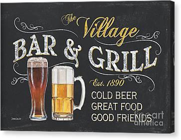 Village Bar And Grill Canvas Print by Debbie DeWitt
