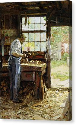 Village Carpenter Canvas Print by Edward Henry Potthast
