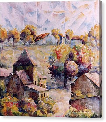 Village D'ohey Canvas Print by Beatrice BEDEUR