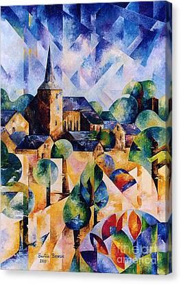 Village D'ortho Canvas Print by Beatrice BEDEUR