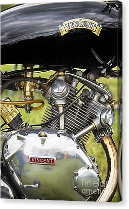 Vincent Comet Motorcycle Engine Canvas Print by Tim Gainey