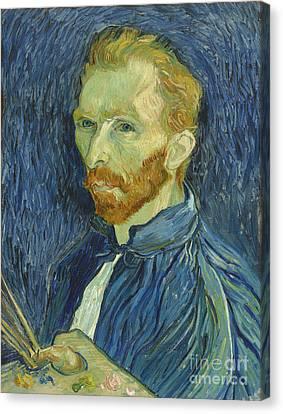 Vincent Van Gogh Self-portrait 1889 Canvas Print by Vincent Van Gogh