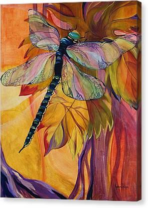 Vineyard Fantasy Canvas Print by Karen Dukes