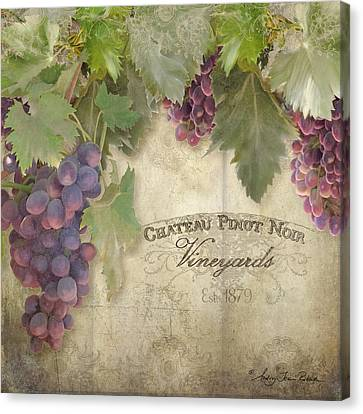 Vineyard Series - Chateau Pinot Noir Vineyards Sign Canvas Print by Audrey Jeanne Roberts