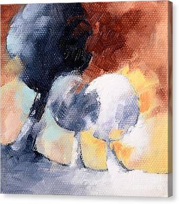 Vingt Quatre Arbres Canvas Print by Beatrice BEDEUR
